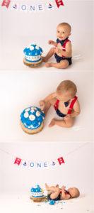 Cake smash photography Richmond VA